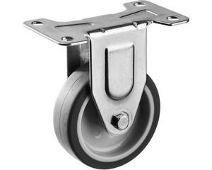 Колесо неповоротное d=75 мм, г/п 60 кг, термопластич. резина/полипропилен, ЗУБР Профессионал