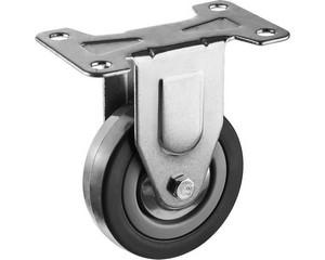 Колесо неповоротное d=75 мм, г/п 50 кг, резина/полипропилен, ЗУБР