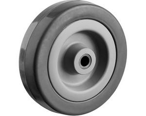 Колесо d=75 мм, г/п 50 кг, резина/полипропилен, ЗУБР