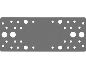 Крепежная пластина 200x80 x 2мм, КП-2.0 ЗУБР