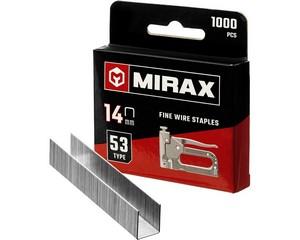 MIRAX 14 мм скобы для степлера узкие тип 53, 1000 шт