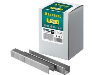 KRAFTOOL 12  мм скобы для степлера тип 80, 5000 шт