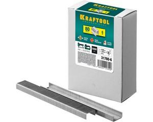 KRAFTOOL 6  мм скобы для степлера тонкие широкие  тип 80, 5000 шт