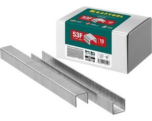 KRAFTOOL 10  мм скобы для степлера плоские тип 53F, 5000 шт