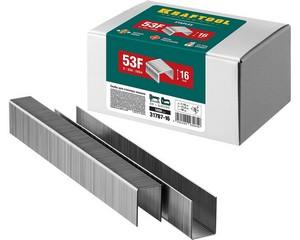 KRAFTOOL 16  мм скобы для степлера плоские тип 53F, 5000 шт