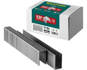 KRAFTOOL 22  мм скобы для степлера плоские тип 53F, 5000 шт