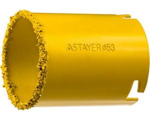 """Коронка STAYER """"PROFESSIONAL"""" кольцевая с карбидно-вольфрамовой крошкой, d=53мм"""