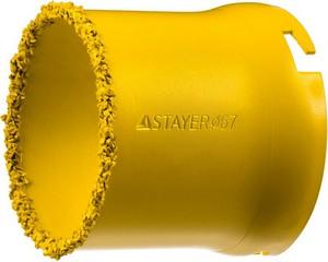 """Коронка STAYER """"PROFESSIONAL"""" кольцевая с карбидно-вольфрамовой крошкой, d=67мм"""