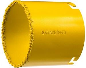 """Коронка STAYER """"PROFESSIONAL"""" кольцевая с карбидно-вольфрамовой крошкой, d=73мм"""