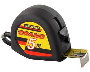 KRAFTOOL GRAND 5м / 25мм рулетка с противоскользящим покрытием