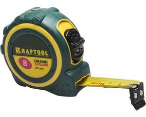 KRAFTOOL GRAND 8м / 25мм рулетка с противоскользящим покрытием