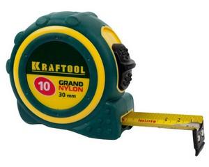 KRAFTOOL GRAND 10м / 30мм рулетка с противоскользящим покрытием