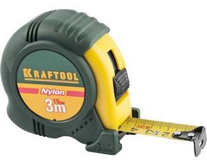 KRAFTOOL NYLON 3м / 19мм рулетка с ударостойким обрезиненным корпусом