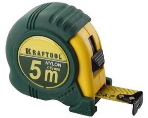 KRAFTOOL NYLON 5м / 19мм рулетка с ударостойким обрезиненным корпусом