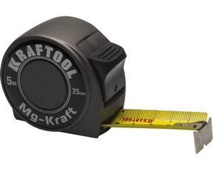 KRAFTOOL MG-Kraft  5м / 25мм  ударопрочная профессиональная рулетка в металлическом корпусе