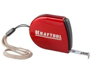 KRAFTOOL 2м / 8мм рулетка компактная с металлическим корпусом