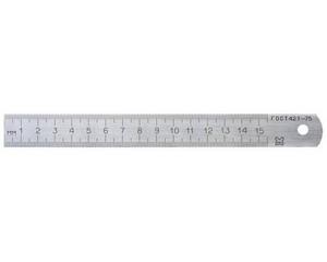 Линейка измерительная металлическая, 0,15м