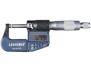 """Микрометр LEGIONER """"EDM-25-0.001"""" электронно-цифровой/механический, диапазон 0-25мм, шаг измерения 0,001мм/0,01мм"""