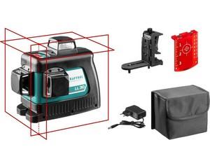 KRAFTOOL LL 3D #2 нивелир лазерный с держателем ВМ1, в коробке