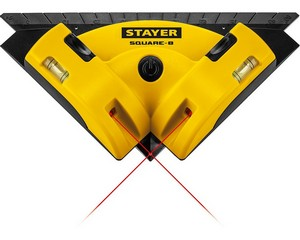 STAYER SQUARE-8  угольник лазерный для кафеля, 8 м, точн. +/-0,4 мм/м,