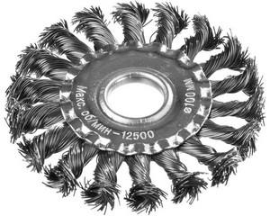 DEXX. Щетка дисковая для УШМ, жгутированная стальная проволока 0,5мм, 100ммх22мм