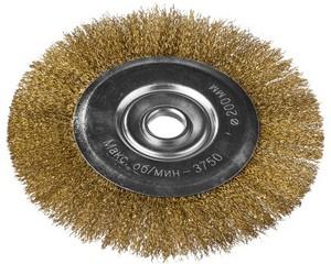 DEXX. Щетка дисковая для УШМ, витая стальная латунированная проволока 0,3мм, 200ммх22мм