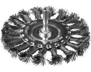 DEXX. Щетка дисковая для дрели, жгутированная стальная проволока 0,5мм, 100мм