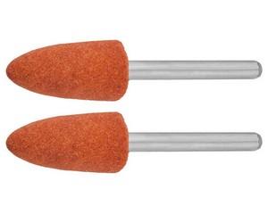 Конус ЗУБР абразивный шлифовальный на шпильке, P 120, d 9,5x19,0х3,2 мм, L 45мм, 2шт