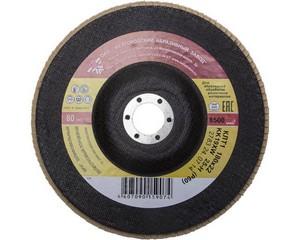 """Круг лепестковый торцевой """"БАЗ"""", P80, 180 х 22 мм, БАЗ, 36563-180-80"""