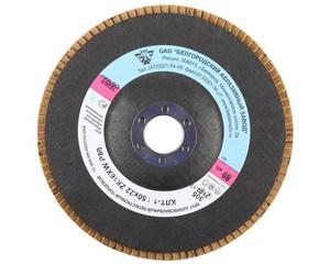 "Круг лепестковый торцевой ""БАЗ"" для шлифования, тип КЛТ 1, ZK16XW, зерно-электрокорунд циркониевый P80, 150 х 22 мм"