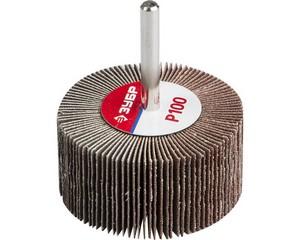 ЗУБР  d 60x30 мм, P100, круг шлифовальный лепестковый