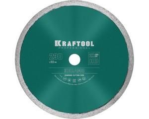 KERAMO 230 мм, диск алмазный отрезной сплошной по керамограниту, керамической плитке, KRAFTOOL