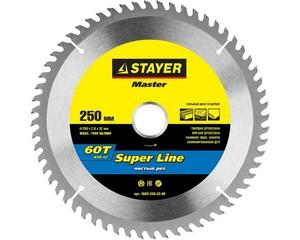 STAYER EXPERT 250 x 32/30мм 60Т, диск пильный по дереву, точный рез