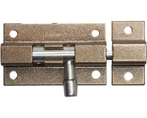 """Задвижка накладная для окон и мебели """"ШП-50 КМЦ"""", цвет коричневый металлик/цинк, 50мм"""