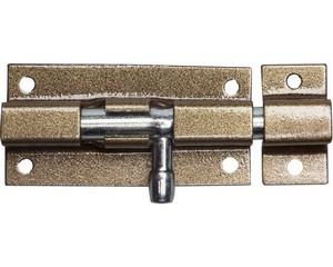 """Задвижка накладная для окон и мебели """"ШП-60 КМЦ"""", цвет коричневый металлик/цинк, 60мм"""