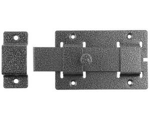"""Задвижка накладная""""ЗД-02""""для дверей усиленная, порошковое покрытие, цвет серебро, плоский засов 30х135х7мм, 75х115мм"""