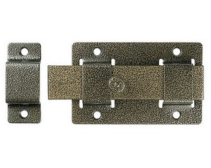 "Задвижка накладная""ЗД-02""для дверей усилен, порошковое покрытие, цвет бронза, плоский засов 30х135х7мм, 75х115мм"