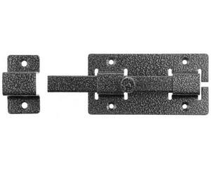 """Задвижка накладная""""ЗД-06""""для дверей усиленная, порошковое покрытие, цвет серебро, квадратный засов 15х145х15мм, 60х115мм"""