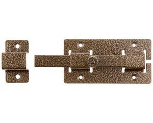 """Задвижка накладная""""ЗД-06""""для дверей усиленная, порошковое покрытие, цвет бронза, квадратный засов 15х145х15мм, 60х115мм"""