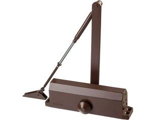 Доводчик дверной STAYER, для дверей массой до 100 кг, цвет коричневый