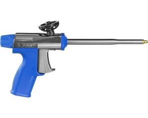 """Пистолет """"ТУРБО"""" профессиональный для монтажной пены, цельнометал профес конструкция, тефлоновое покрытие, ЗУБР Профессионал"""