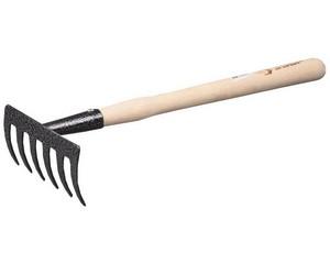 Грабельки ЗУБР садовые с деревянной ручкой, 6 прямых зубцов
