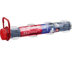 ЗУБР электрод сварочный МР-3 с рутиловым покрытием, для ММА сварки, d 2,5 х 350 мм, 1,5 кг в ПВХ тубе.
