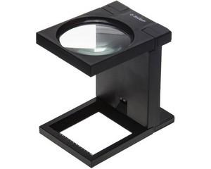 """Лупа ЗУБР """"МАСТЕР"""" складная на подставке, светодиодная подсветка, 3 кратное увеличение, диаметр 90мм"""