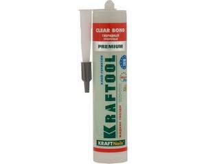 Клей монтажный KRAFTOOL KraftNails Premium KNP-701 полиуретан экстрасильный, прозрачный, универс, водостойкий, 310мл