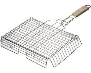 """Решетка-гриль GRINDA """"BARBECUE"""", объемная, нержавеющая сталь, 340х260мм"""
