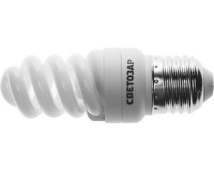 "Энергосберегающая лампа СВЕТОЗАР ""КОМПАКТ"" спираль,цоколь E27(стандарт),Т2,теплый белый свет(2700 К), 8000час, 9Вт(45)"