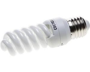 "Энергосберегающая лампа СВЕТОЗАР ""КОМПАКТ"" спираль,цоколь E27(стандарт),Т2,яркий белый свет(4000 К), 8000час, 12Вт(60)"