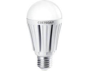 "Лампа СВЕТОЗАР светодиодная ""LED technology"", цоколь E27(стандарт), теплый белый свет (2700К), 230В, 12Вт (100)"