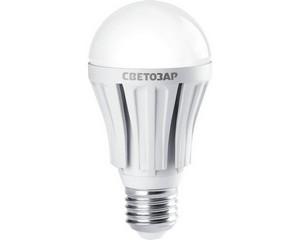 "Лампа СВЕТОЗАР светодиодная ""LED technology"", цоколь E27(стандарт), теплый белый свет (2700К), 230В, 10Вт (75)"